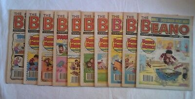 Vintage Beano Comics 10 editions between January -August 1990.