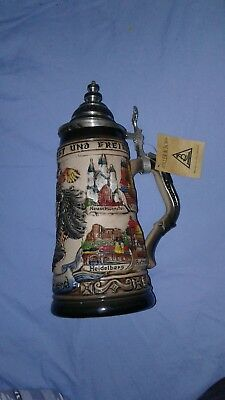 Limited edition Zoller & Born Beer Stein Mug with Pewter lid.   254/5000