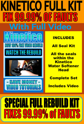 Kinetico - Brand New Full Rebuild Kit - Now With Every Seal inside the Kinetico
