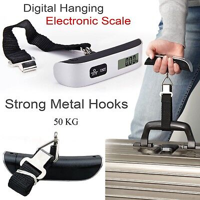 50KG Digital Travel Portable Handheld Weighing Luggage Scales Suitcase Bag-Ascal