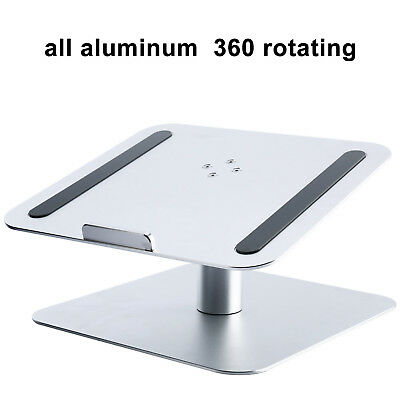 """Aluminum Laptop Holder Stand Dock Pad for MacBook & PC 17"""" Tablet Notebook New"""