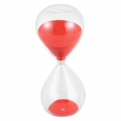 3X(Large Fashion Red Sand Glass Sandglass Hourglass Timer Clear Smooth Glas Y1Y3