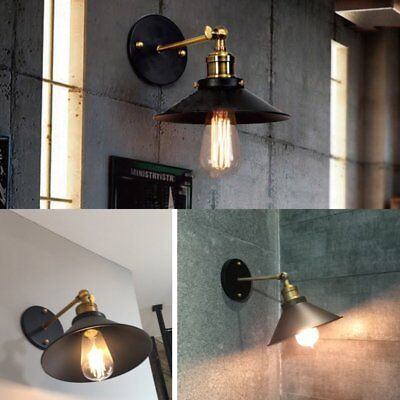 Art Deco Wall Lamp Vintage Industrial Shade Bar Wall Light Antique Brass Sconce