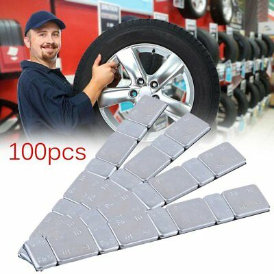 100 x 60g Adhesive Stick On Wheel Balance Weights Car Motorbike balancing set UK