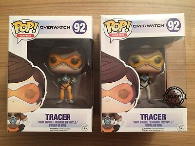 2 x Funko Pop! Overwatch Tracer Sammelfigur (EXCLUSIVE + Original) Neu
