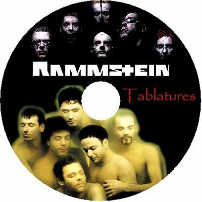Rammstein Bass & Guitar Tab Cd Tablature Greatest Hits Best Of Metal Music Audio
