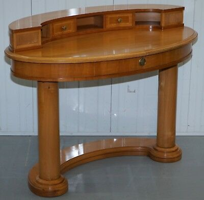 Rrp £3000 Stunning Selva Hand Made In Italy Walnut Dressing Table Curved Kidney