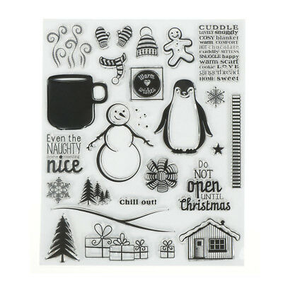 penguin Transparent Silicone Clear Stamp Cling Diary Scrapbooking DIY Decor RT