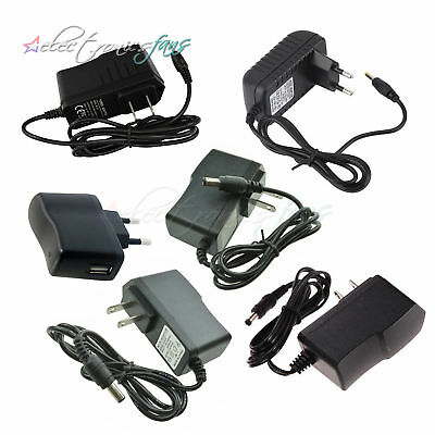 EU/US Plug AC 100-240V to DC 12V 9V 5V 1A 2A Power Converter Adapter LED Light