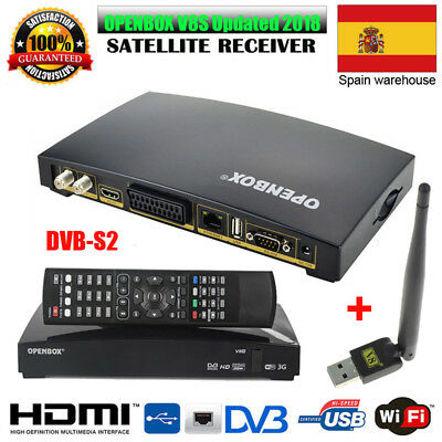 Openbox V8S Satellite TV Receiver Digital PVR Freesat Receptor +USB WIFI Antenna