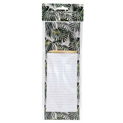 Magnetic Shopping List with Pencil Planner To do List Botanical Series Office