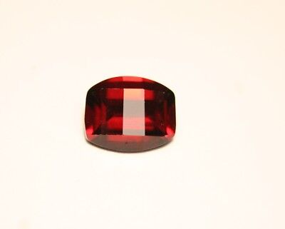 3.5ct Deep Red Malaya Garnet - Custom Opposed Oval Cut - Very Large Clean Garnet