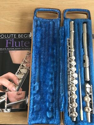 Yamaha YFL221N Flute and beginners book, in used condition.