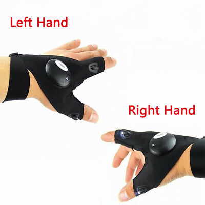 Night Fishing Finger Glove with LED Light Rescue Flashlight Tools Outdoor Gear
