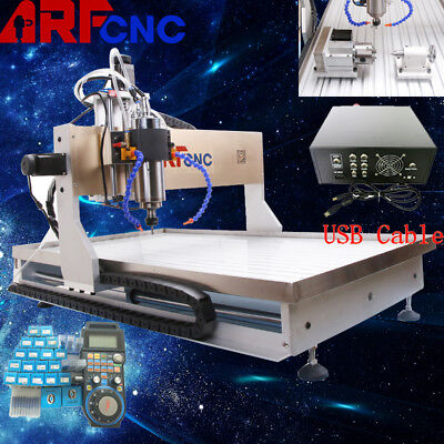 USB 4axis CNC router 6090 2.2KW Spindle Engraving Milling Carving Machine