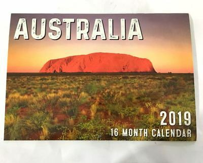 NEW 2019 Calendar Rectangle Calendar Wall Calendar 16 Months -Australia