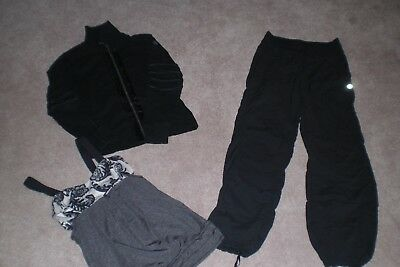 Lot of Lululemon Unlined Dance Studio Pants, Rare Jacket and Tank sz 4