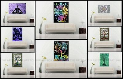 Indian Wall Hanging Cotton Mandala Poster Tapestry Ethnic Handmade Table Cover