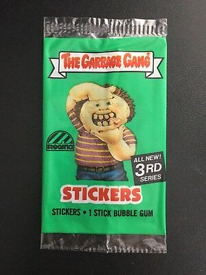 1986 The Garbage Gang Pail Kids Series 3 Australia Set Card Wrapper Packet Open
