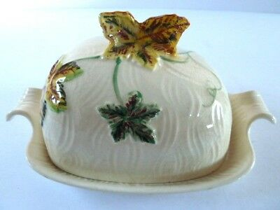 SHORTER & SON BUTTER CHEESE LIDDED DISH---WOODLAND pattern--hand painted