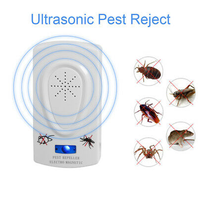 Electronic Mice Repeller Insect Killer Ultrasonic Pest Reject Anti Mosquito
