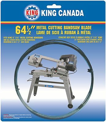 "King Canada Tools KBB-115-10 METAL BANDSAW BLADE 64-1/2"" x 0.25"" x 10 TPI LAME"