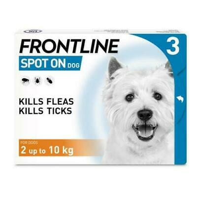 Frontline Spot On Flea & Tick Treatment Small Dogs 2-10Kg - 3 pipettes - AVM-GSL