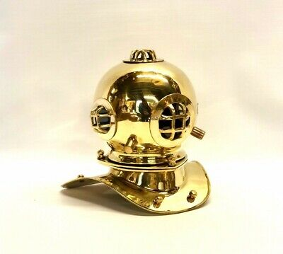 "Reproduction Navy Divers Helmet 8"" ~ Nautical Marine Maritime Made of Brass"