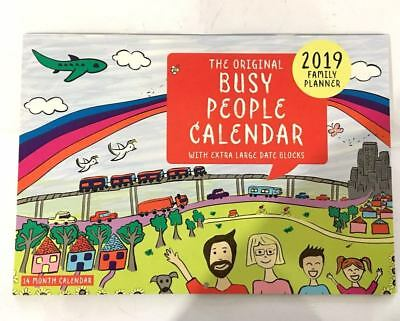2019 Calendar Rectangle Wall Calendar 16 Months Busy People Family Planner