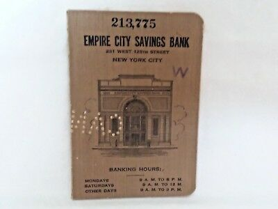 Vintage Expired 1928-1955 The Empire City Savings Bank New York, NY Deposit Book