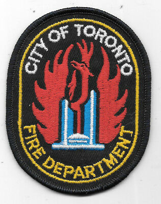 """Firefighting Patch: City Of Toronto Canada Fire Department Patch 4"""" X 3"""""""