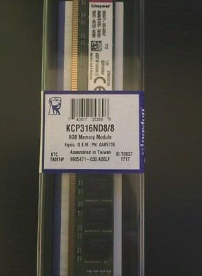NEW Kingston KCP316ND8/8 8GB 240-Pin DDR3 SDRAM DDR3 1600 (PC3 12800)