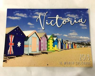 2019 Calendar Rectangle Calendar Wall Calendar 16 Months Victoria Melbourne AUS