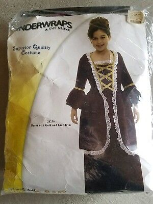 N Child Underwraps Colonial Girl Halloween Costume Size S
