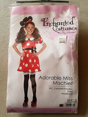 O NEW Child Enchanted Costumes Adorable Miss Mischief Halloween Costume Size M