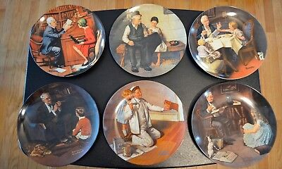 Lot of 6 Norman Rockwell Plates-Rockwell Heritage Collection/FREE SHIPPING