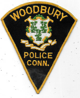 "Police Patch: Woodbury Connecticut Police Measures 5"" X 6"""