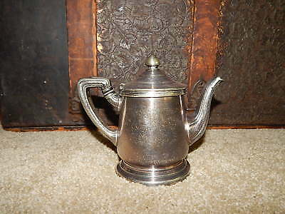 Vintage Reed Barton Lexington Hotel Hot Water Teapot Souvenir Silverplate Capone