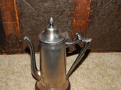 Vintage National Hotel Hot Water Teapot Souvenir Silver Plate Cream Soldered