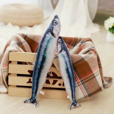 Saury Fish Shape Pet Cat Mint Catnip Scratch Toy Cat Favor Simulation Fi TD