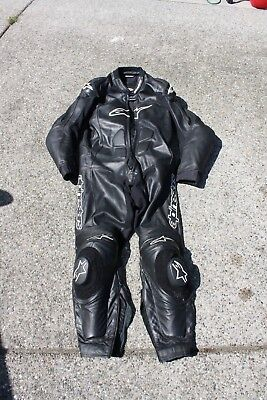 Alpinestars Leather Track Suit One Piece 48 Motorcycle Racing