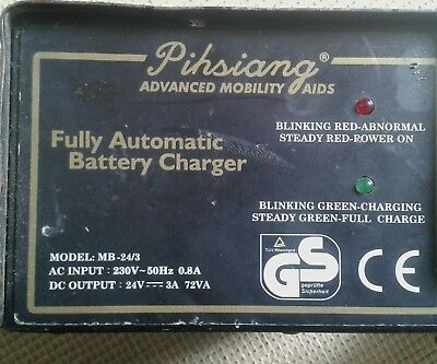 Pihsiang MB 24/3 24v mobility electric scooter charger   needs flex repair