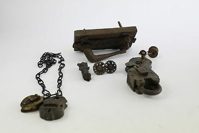 Lot of Antique/Vintage Padlocks & Locks Mixed Inc. Wood