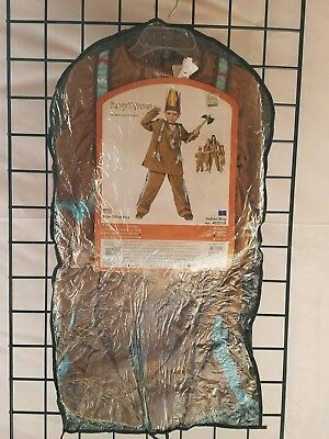 NEW Funny Fashions Child Pow Wow Indian Boy  Halloween Costume Size M