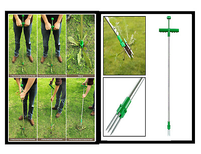 2 X Weed Puller  Twister Twist Pull Garden Lawn Weeder Root Remover Killer HIGH
