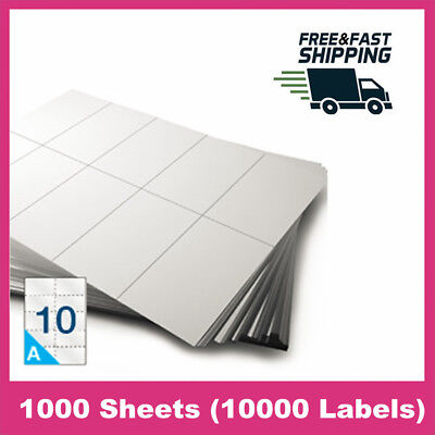 "10000 Labels 2"" x 4"" Shipping Mailing Barcode Blank Label Seft Adhesive Stickers"
