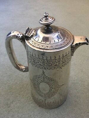 Stunning Victorian  Silver Plated Water/coffee Pot By Walker & Hall