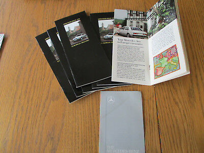 1990 Mercedes Benz European Delivery & shift interlock pamphlets Lot of 8