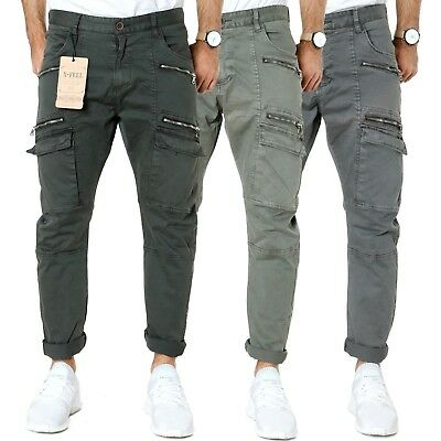 X-FEEL | Herren Cargo-Hose | Slim Fit | Stretch Chino Hose | 3 Farben UVP*59,95€