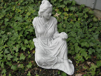 Cast Stone Cement Quan Yin Goddess of Compassion & Mercy  Outdoor Garden Statue